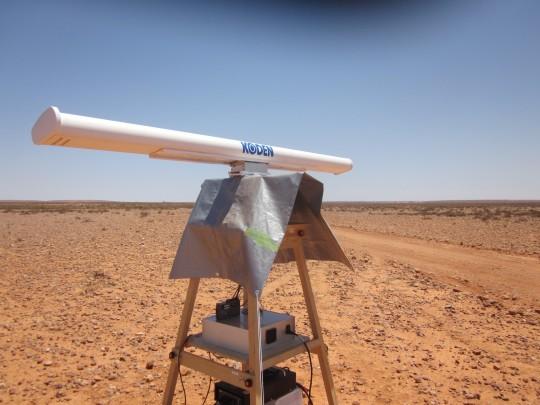カプセル探査用の当社レーダー